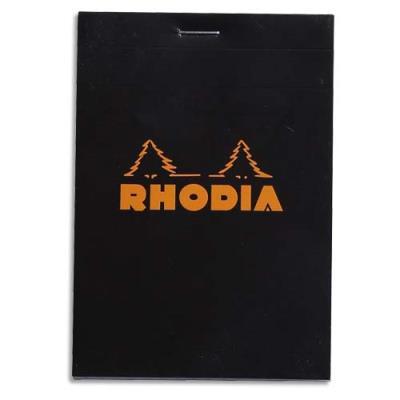 Bloc Rhodia - format 8,5 x 12 cm - réglure 5x5 - 160 pages - noir