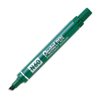 Marqueur permanent Pentel N60 - corps métal - pointe biseautée verte