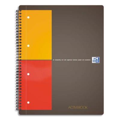 Oxford Cahier Active book  - 160 pages - petits carreaux 5 x 5 - format 14,8x21cm