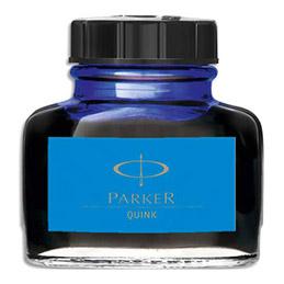 Flacon d'encre bleue Parker Quink (photo)