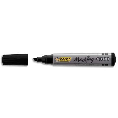 Marqueur permanent bic 2300 pointe biseaut e noir for Marqueur indelebile exterieur