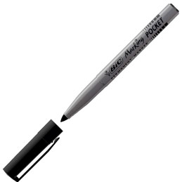 Bic Pocket - pointe ogive - 1 mm - noir (photo)
