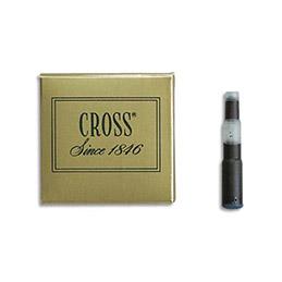 Cartouche Cross pour stylo à plume - encre noire - étui de 6 (photo)