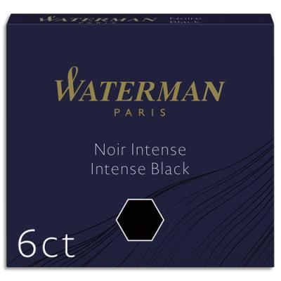 Etui de 6 mini - cartouches Waterman - noir (photo)