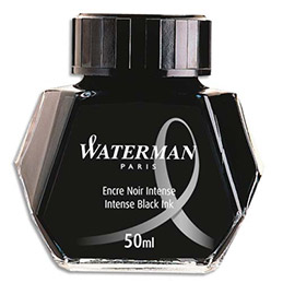Flacon d'encre Waterman - noir - 50 ml (photo)