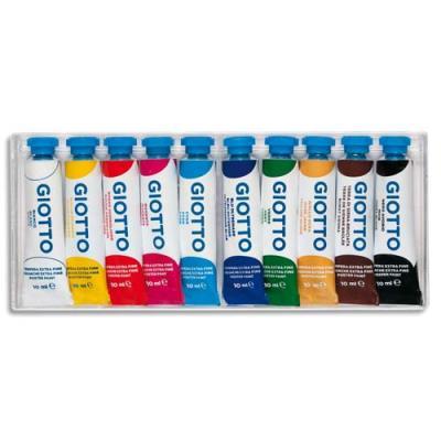 Tubes de peinture gouache - lot de 10 - 10 ml