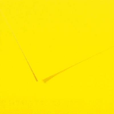 Feuille dessin couleur 50 x 65 cm dessin Tiziano 160g Jaune Citron Ecole (photo)
