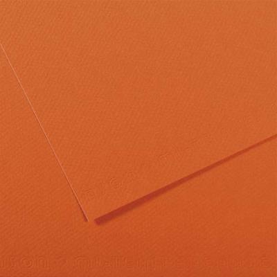 Feuille dessin couleur 50 x 65 cm dessin Tiziano 160g grain moyen teinte dans la masse/ Orange Ecole (photo)