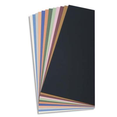 Paquet de 24 feuilles dessin couleur Tiziano 160 g couleurs pastels assorties Ecole
