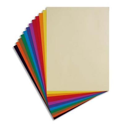 Paquet de 24 feuilles dessin couleur Tiziano 160 g couleurs vives assorties Ecole