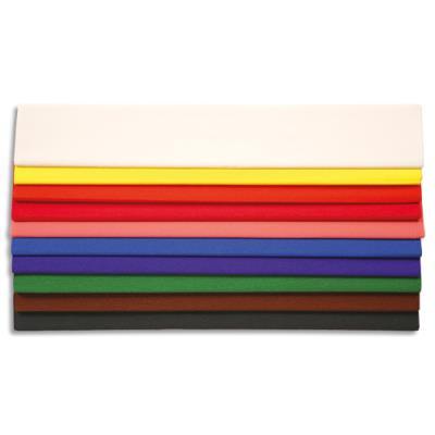 Papier crépon 30g - crêpé à 40% - 200 x 50 cm - coloris assortis - paquet de 10 feuilles