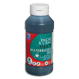 Encre à dessiner bleu primaire cyan flacon 250 ml (photo)