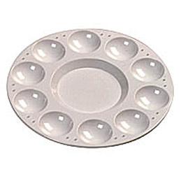 Palette plastique ronde 10 alvéoles Ecole (photo)