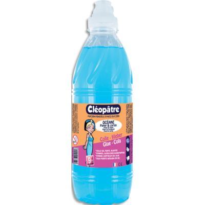 Colle synthétique Cleopatre transparente - colle bleue Océane - bidon de 1 litres ecole