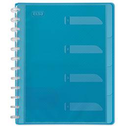 Protège documents Elba Hawai PP - 60 vues - 30 pochettes - amovibles bleu