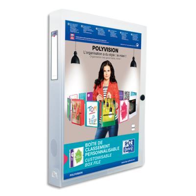 Boite de classement personnalisable - dos de 40 mm - format 24 x 32 cm - incolore