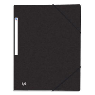 Chemise 3 rabats et élastique Elba Top File - carte lustrée 5/10e - 24 x 32 cm - noir