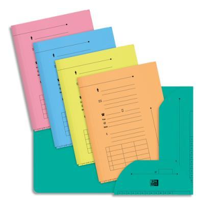 Chemise 2 rabats HV Ultimate pour dossiers suspendus - coloris pastels assortis - 23.5 x 31,5 cm - paquet de 25 (photo)