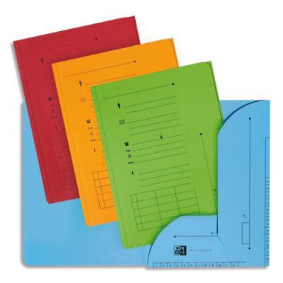 Chemise 2 rabats HV Ultimate pour dossiers suspendus - coloris assortis toniques - 23.5 x 31,5 cm - paquet de 25 (photo)