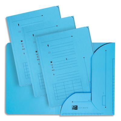 Chemise 2 rabats HV Ultimate pour dossiers suspendus - bleu - 23.5 x 31,5 cm - paquet de 25 (photo)