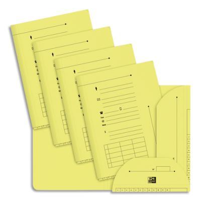 Chemise 2 rabats HV Ultimate pour dossiers suspendus - jaune pastel - 23.5 x 31,5 cm - paquet de 25 (photo)