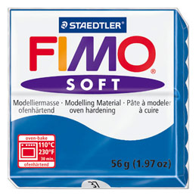 Pâte à cuire Fimo Soft 56 g / Bleu (photo)