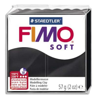Pâte à cuire Fimo Soft 56 g / Noir (photo)