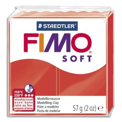 Pâte à cuire Fimo Soft 56 g / Rouge (photo)