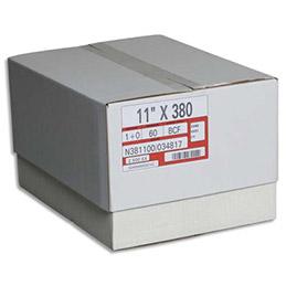 Boîte de 2500 paravents listing Spat - format 380x11 pouces 1 exemplaire zoné vert - 60 gr bande caroll fixe (photo)