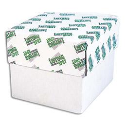 Boîte de 750 paravents listing Spat - 240x11 pouces 3 exemplaires blanc - 56/53/57gr - bande caroll détachable (photo)