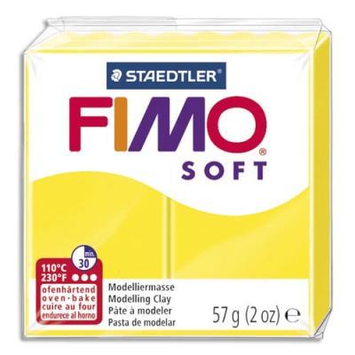 Pâte à cuire Fimo Soft 56 g / Jaune (photo)