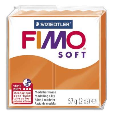 Pâte à cuire Fimo Soft 56 g / Orange (photo)