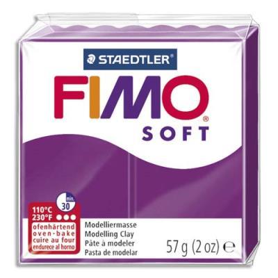 Pâte à cuire Fimo Soft 56 g / Violet (photo)