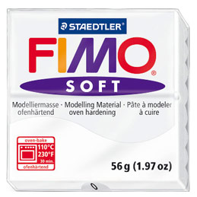 Pâte à cuire Fimo Soft 56 g / Blanc (photo)