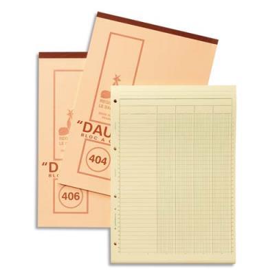 Bloc comptableDauphinbloc 404 - 4 colonnes - 50 feuilles - 21 x 29,7 cm - papier jaune (photo)