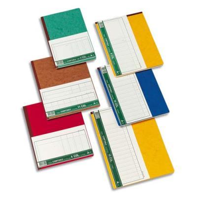 Registre comptable Le Dauphin piqûre 80 pages - format 19,5 x 30 cm à la francaise - 4 colonnes