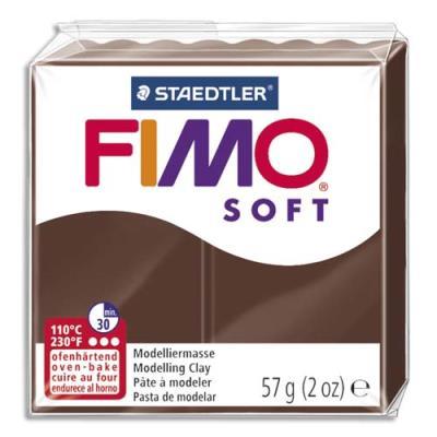 Pâte à cuire Fimo Soft 56 g / Chocolat (photo)