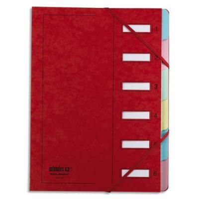 Trieur Extendos 237 Mon Dossier - 6 compartiments - carte forte vernie - rouge