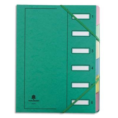 Trieur Extendos 237 Mon Dossier - 6 compartiments - carte forte vernie - vert