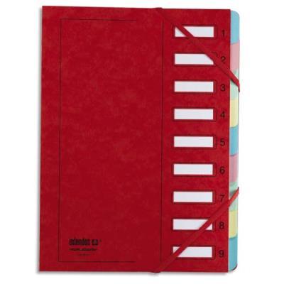 Trieur Extendos 237 Mon Dossier - 9 compartiments - carte forte vernie - rouge