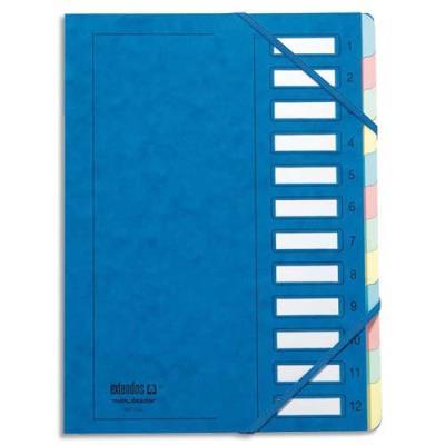 Trieur Extendos 237 Mon Dossier - 12 compartiments - carte forte vernie - bleu