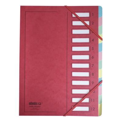 Trieur Extendos 237 Mon Dossier - 12 compartiments - carte forte - rouge