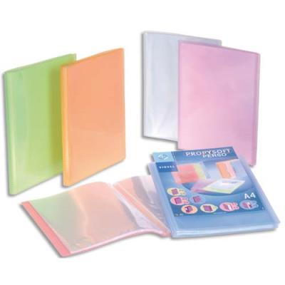 Protège document personnalisable Viquel - 60 vues - 30 pochettes Silky Touch - coloris assortis