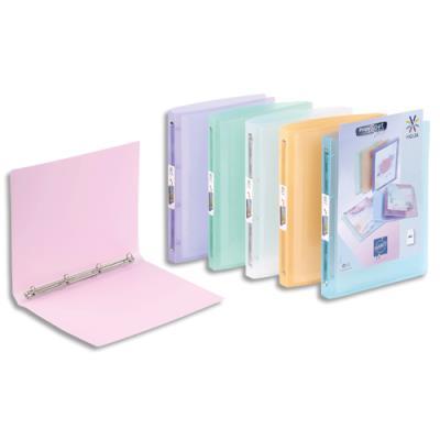 Classeur personnalisable 4 anneaux Propysoft A4 - polypropylène - dos 2 cm - coloris assortis