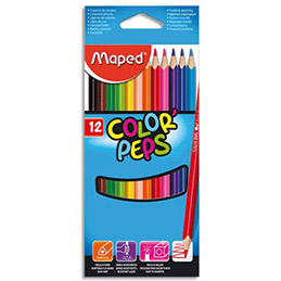 Etui de 12 crayons de couleur Colorpep's Maped - coloris assortis (photo)