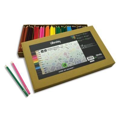 Pack de 144 crayons de couleur économiques JPC - coloris assortis (photo)