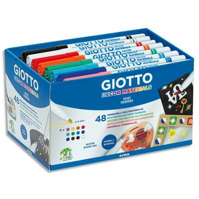 Boîte de 48 feutres de coloriage Giotto Décor (photo)