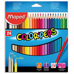 Etui de 24 crayons de couleur Colorpeps Maped - coloris assortis (photo)