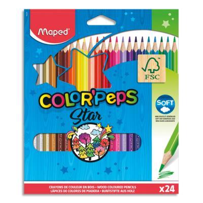 Etui de 24 crayons de couleur Colorpeps Maped - coloris assortis