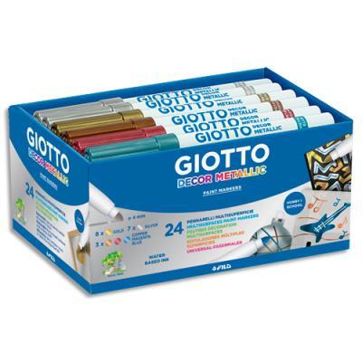 Boîte de 24 feutres de coloriage Giotto déco métal (photo)